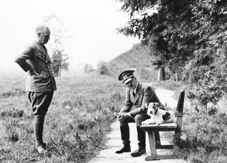 Hitler and his dog photoshoot.