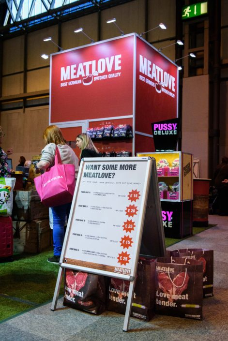Crufts Press Photographer Jamie Morgan captures the action on the MeatLove Stand.