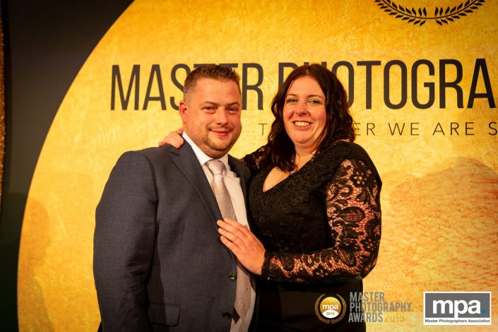 Jamie Morgan and his partner Leanne Brooks at the 2018 Master Photography Awards